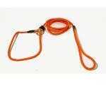 Retrieverkoppel med stopp 120 cm orange